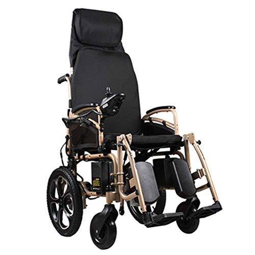 DLY Elderly Disabled Elektrisch Angetriebener Rollstuhl, Der Das Leichte 39Kg, Stark und Langlebig für Den Gebrauch, Motorisierte Rollstühle Bequem für Haupt und im Freiengebrauch Faltet