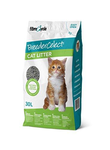FIBRECYCLE Lecho de Papel Reciclado BreederCelect para Gatos, 30 l, Gato ⭐