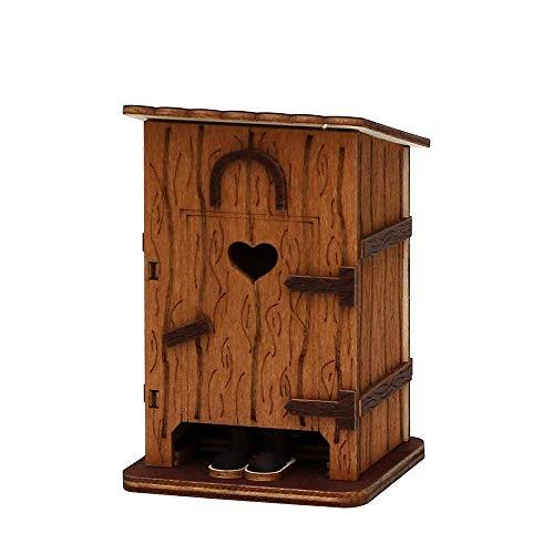 SIGRO Holzkunst Collection Holz Räucherhütte Stilles Örtchen 75 x 75 x 115 cm