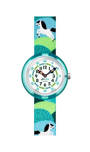 Flik Flak Unisex Analog Schweizer Quarz Uhr mit Textil Armband FBNP149