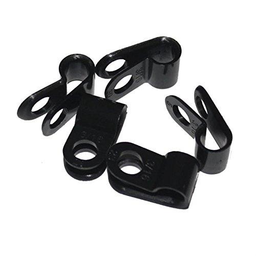 100x P-Clip para cables 5mm Nylon abrazadera fijación terminales de chasis