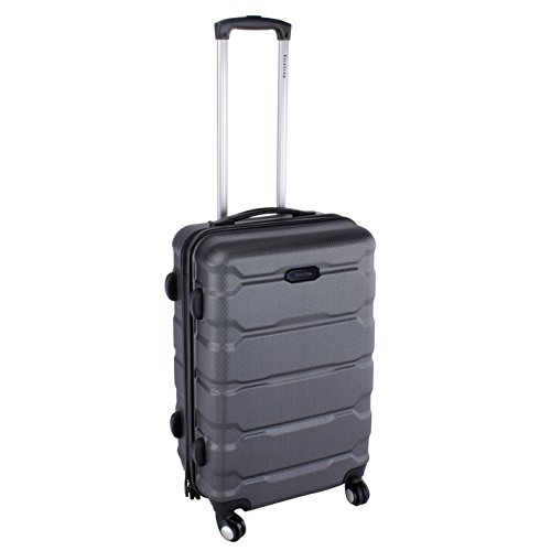 Firetrap Unisex Hard Suitcase Black 24in/63cm