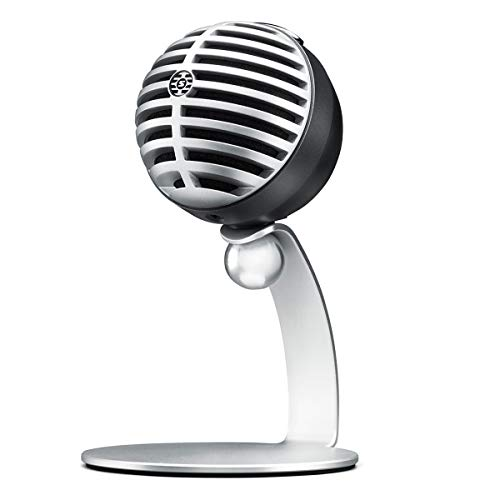 Shure MV5-LTG Digital Condenser Microphone for USB and Lightning, 3 DSP Preset Modes, integrated pre-amp, Zero Latency Monitoring, Headphone jack, high-quality 24 Bit / 48 kHz audio capture