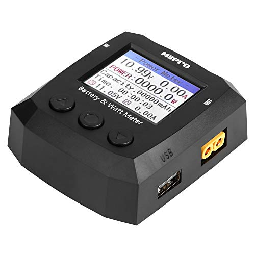 Batterie-Wattmeter, Rcharlance M8Pro-8S Leistungstester Batterie- und Wattmeter-Batterien Checker