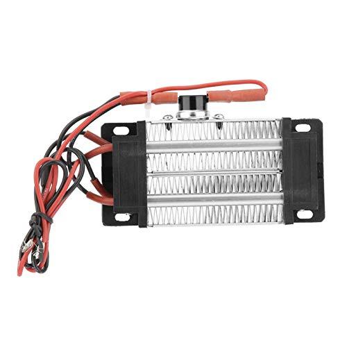 Calentador de aire PTC Calentador de aire de cerámica PTC, 220V 300W Elemento calefactor de aire de tubo de aluminio de cerámica PTC aislado, Calentador de aire de cerámica aislado PTC