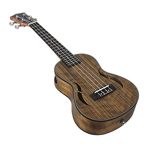 -Ukulele 24-Zoll-Acoustic Concert Ukulele Ukelele Uke Walnussholz Nylon Strings Close Typ Tuning Pegs mit Tragetasche Reinigungstuch Strings Anfänger und Fortgeschrittene Ukulelen