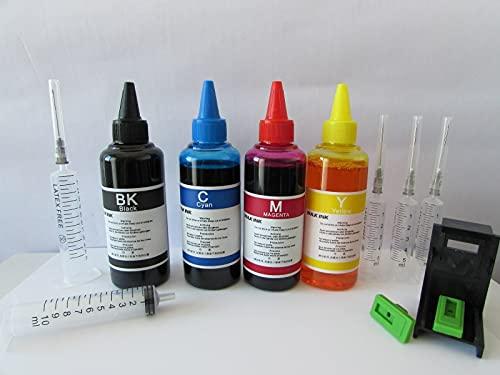 400 kit tinta recarga cartuchos impresora HP 15 negro y 23 color recambio