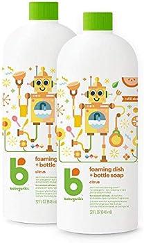 2-Pack Babyganics Foaming Dish Bottle Soap