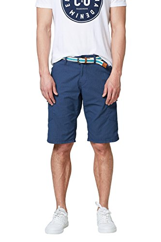 edc by ESPRIT Herren 058CC2C015 Shorts, Blau (Navy 400), 33
