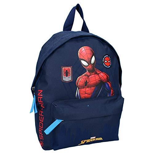 Marvel Zainetto Zaino Scuola Elementare Medie Bambino Ragazzi Avengers Spiderman Blu 31 x 22 x 9 cm
