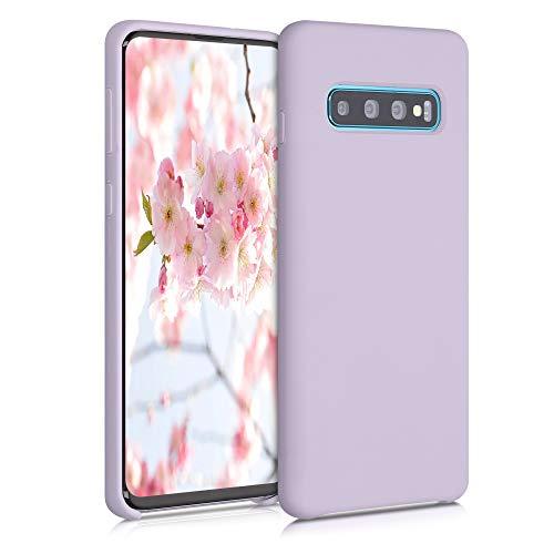 kwmobile Cover Compatibile con Samsung Galaxy S10 - Custodia in Silicone TPU - Back Case Protezione Cellulare Zucchero Filato