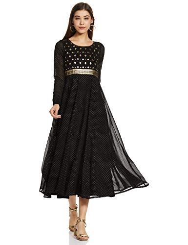 Aurelia Synthetic Empire Dress (19AUA11017-500915_Black_XS)