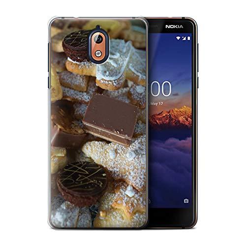 Stuff4 Telefoonhoesje/Cover/Skin/NOKLUM-CC/Kerstmis Voedselcollectie Nokia 3 2018 (3.1) Chocolade Desserts