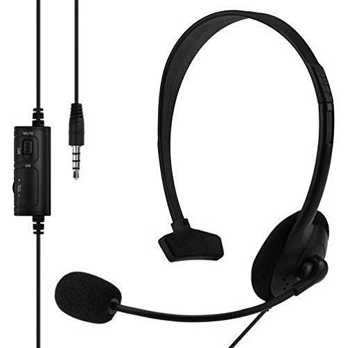 takestop Cuffie COMPATIBILI YF MONOCUFFIA Gaming con Microfono con Filo Controllo Volume per Playstation 4 PS4 PS 4 Headset Earphone