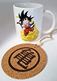 HobbyElx Taza y Adorno Goku Nube Kinton