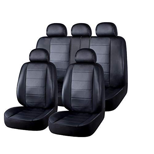Universal Nera in Pelle Eco-Set completo Car Seat Covers fit TOYOTA YARIS