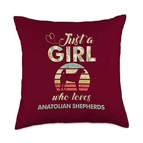 Check out my other Anatolian Shepherd T-shirts Just A Girl Who Loves Anatolian Shepherds Throw Pillow, 18x18, Multicolor