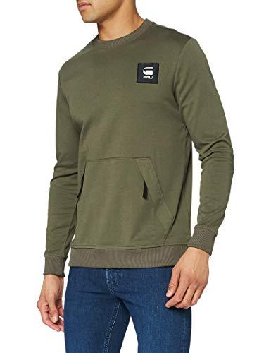 G-STAR RAW Box Logo Pocket Tweater Sudadera, Combat C584-723, L