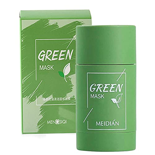 1PCS Green Tea Purifying Clay Stick,Purifying Clay Mask,Oil Control Face Mask,Deep Clean Poresfor All Skin Types Men Women (1pcs)