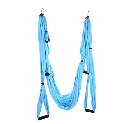 Review Of NJ058 Aerial Yoga Swing Set - Yoga Hammock Swing - Trapeze Yoga Kit - 2 Extension Straps -...