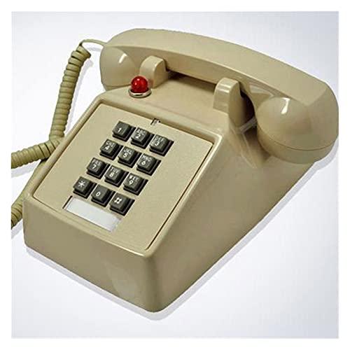 TAIJU-CHENCHEN Teléfono fijo con cable de diseño retro - Vintage clásico Vintage Botón antiguo estilo mesa de escritorio mesa oficina caja de cordón enroscada Auricular con botón de marcación, conecto