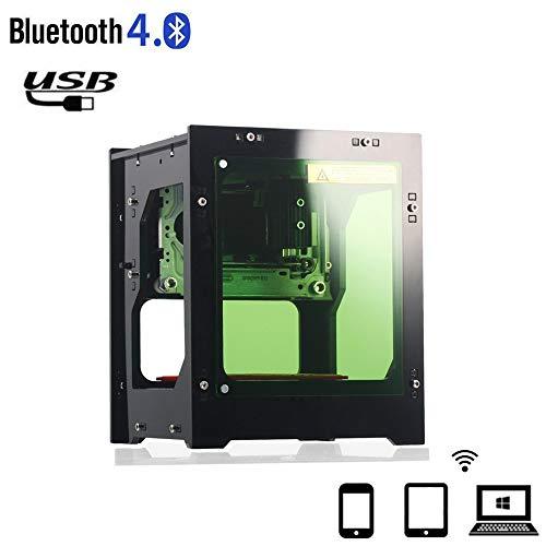 Laser graveurprinter, NEJE DK-BL 3000mW draagbare Bluetooth lasergravure snijmachine USB laser carver markeermachine DIY kit, uitgebreide APP controle voor smartphone / tablet / pc