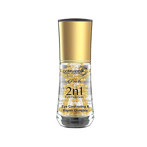 Donna Bella 24K Pro Gold edition Luxury Skincare Pearls 2 n 1 Formulation 40ML-1.35FL.OZ Eye Contouring & Repair Complex natural formula specially synthesized with organic extract elements