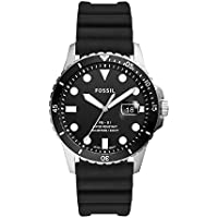 Fossil FB-01 Stainless Steel Three-Hand Date Black Silicone Men's Watch