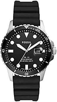 Fossil FB-01 Three-Hand Date Black Silicone Men's Watch