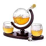 hangzhoushiJacob Elsie Whiskykaraffe 900 ml mundgeblasen Globus und 2 Gläser Set je 350 ml...