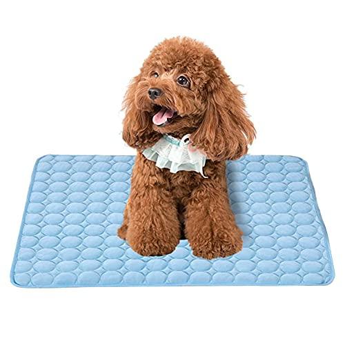 Estera de enfriamiento, Mascotas Alfombrilla, Perro de refrigeración Mat, para sillones, Asientos de automóvil, Camas y perreras de Mascotas (Azul)