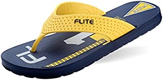 Flite Men's Navy and Yellow House Slippers (FL-196)