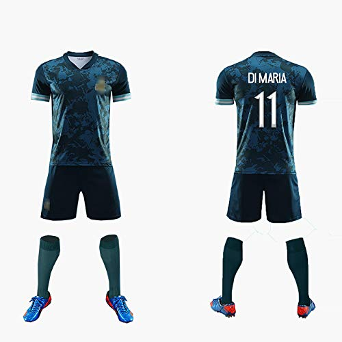 FDSEW Fußballuniform für Erwachsene und Kinder Anzug Argentinien Fußballtrikot 2021 Nationalmannschaft Nr. 9 Aguero Trikot + Shorts S No.11