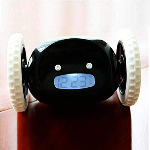 JIAHANLI wecker Kinder Der bewegliche Uhr LCD-Bildschirm des Raumuhr zeigt laufende Weckerfamilienschlafzimmerwohnzimmerplastikwohnzimmerzahlen