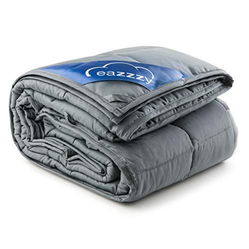 Genius eazzzy Gewichtsdecke 135x200 cm 8kg - Therapiedecke mit Glasperlen für Erwachsene gegen Schlafstörung Anti Stress - Bettwäsche schwer Weighted Blanket besseres Schlafen