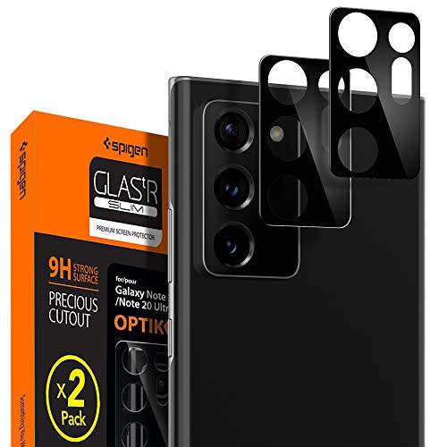 Spigen, 2Pezzi, Pellicola Fotocamera Samsung Galaxy Note 20 Ultra, Glas.TR Optik, Copertura Totale, Custodia Compatibile, Durezza 9H, Protezione Fotocamera Galaxy Note 20 Ultra