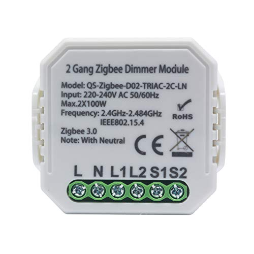 Interruptor Inteligente Zigbee3.0, Atenuador InaláMbrico, MóDulo De ModificacióN Del Hogar Inteligente, Interruptor, 220 V Compatible Con Alexa / Asistente De Google