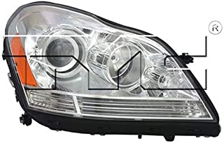 CarLights360: Fits 2007-2012 Mercedes-Benz GL450 Headlight Assembly Passenger Side (Right) DOT Certified w/Bulbs Halogen Type - Replacement for MB2503202