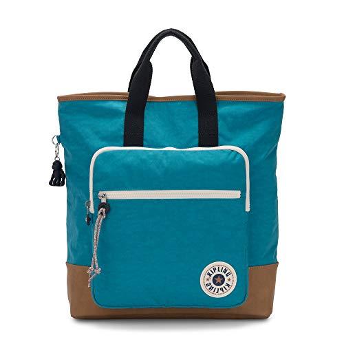 Kipling Sia Tote Backpack Turq Sea Tan C