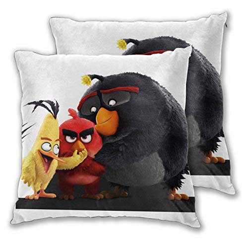 Obbligato Throw Pillow Covers an-Gry Birds Modern Square Pillowcases Cushion Cases for Sofa Couch Bedroom Chair 20'x20'