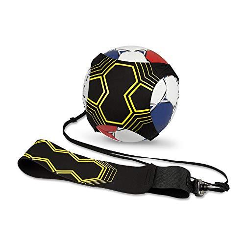 Vintoney Solo Fußball Trainer, Fußball Kick Trainer Fußball-Trainingsgeräte mit verstellbarem Taillengürtel Hands Free für Kinder Erwachsene Anfänger