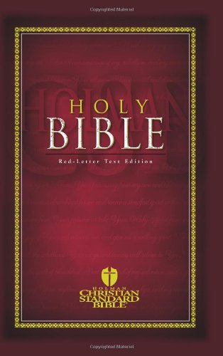 Compare Textbook Prices for Holy Bible Holman Christian Standard Bible: Red-Letter Text Edition  ISBN 9781586400682 by Holman Bible Editorial Staff