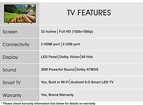 Skywall 81.28 cm (32 inches) Full HD Smart LED TV 32SWELS-PRO (Black) (2021 Model)