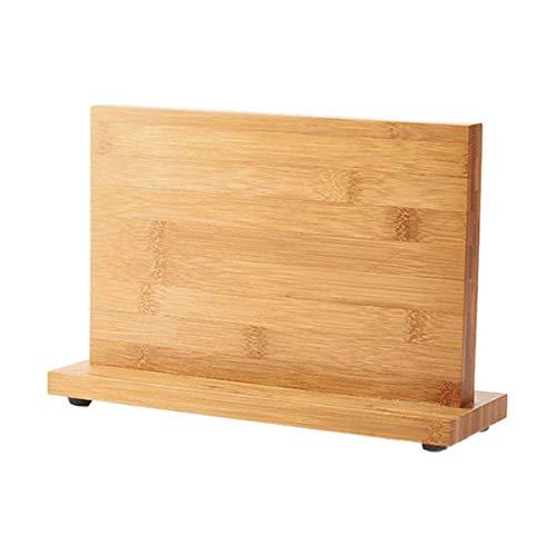 Aitaolian Bloque De Cuchillo Magnético Bambú De Doble Cara, Soporte De Cuchillo Vacío para Restaurante Herramientas De Almacenamiento De Contador De Cocina