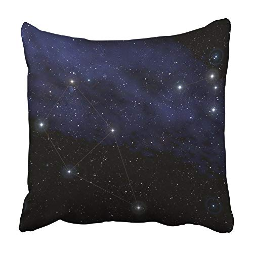 Throw Cushion Cover Blue Sky Constellations Of Cassiopeia And Cepheus In Front Milky Way Zodiac Star Night Sign Map 50X50 Cm