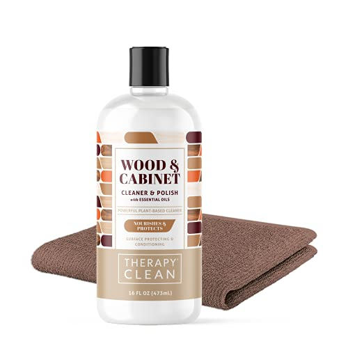 Therapy Furniture Polish & Wood Cleaner Kit 16 oz. Cabinet and Table Restorer