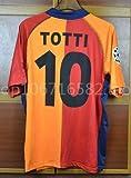 PP Francesco Totti#10 Jersey Maglietta da Calciatore 2001-2002 Champion League League Patch Red Color (XL)
