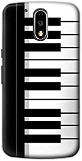 R3078 Black and White Piano Keyboard Case Cover For Motorola Moto G4, G4 Plus