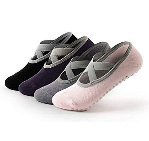 Non Slip Yoga Socks for Women,Sticky Sock for Pilates & Pure Barre & Walking & Bikram Fitness Socks with Grips