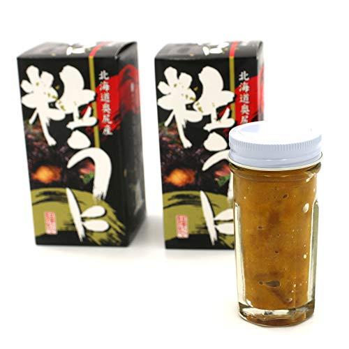 塩うに 瓶詰め 北海道 奥尻産 粒うに 120g(60g×2箱) ウニと食塩だけで造りました 甘口の ウニ 無添加 つぶうに 瓶 うに 冷凍 お歳暮ギフト クリスマスギフト